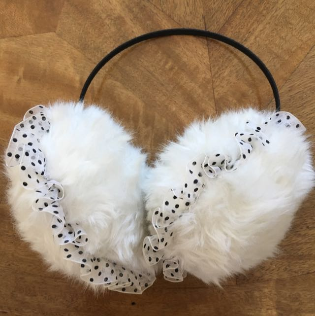Fluffy White Earmuffs