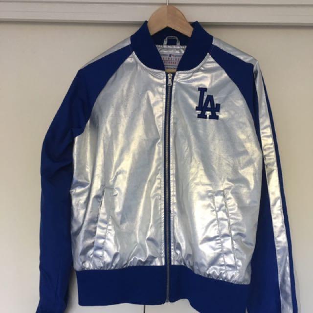 Genuine Dodgers bomber jacket, women's L/XL