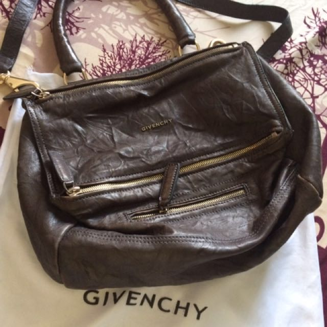 Givenchy Pandora 'Wrinkled' in Medium Gray