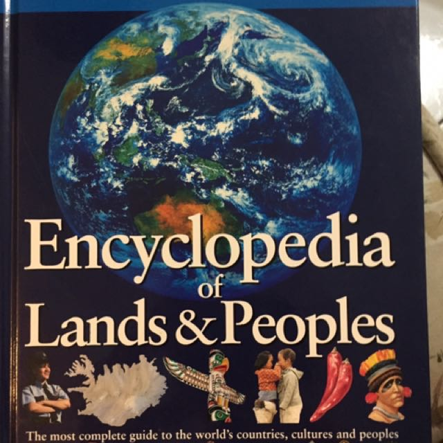 英文書-百科全書/grolier encyclopedia of people and lands