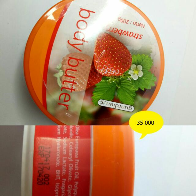 Guardian Body Butter / Body Butter Strawberry / Hand and Body Lotion