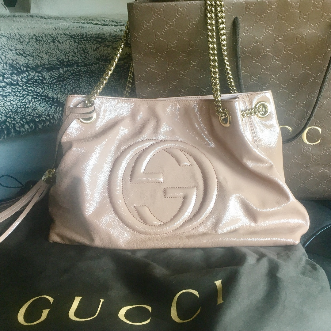 Gucci Soho Patent Leather Tote
