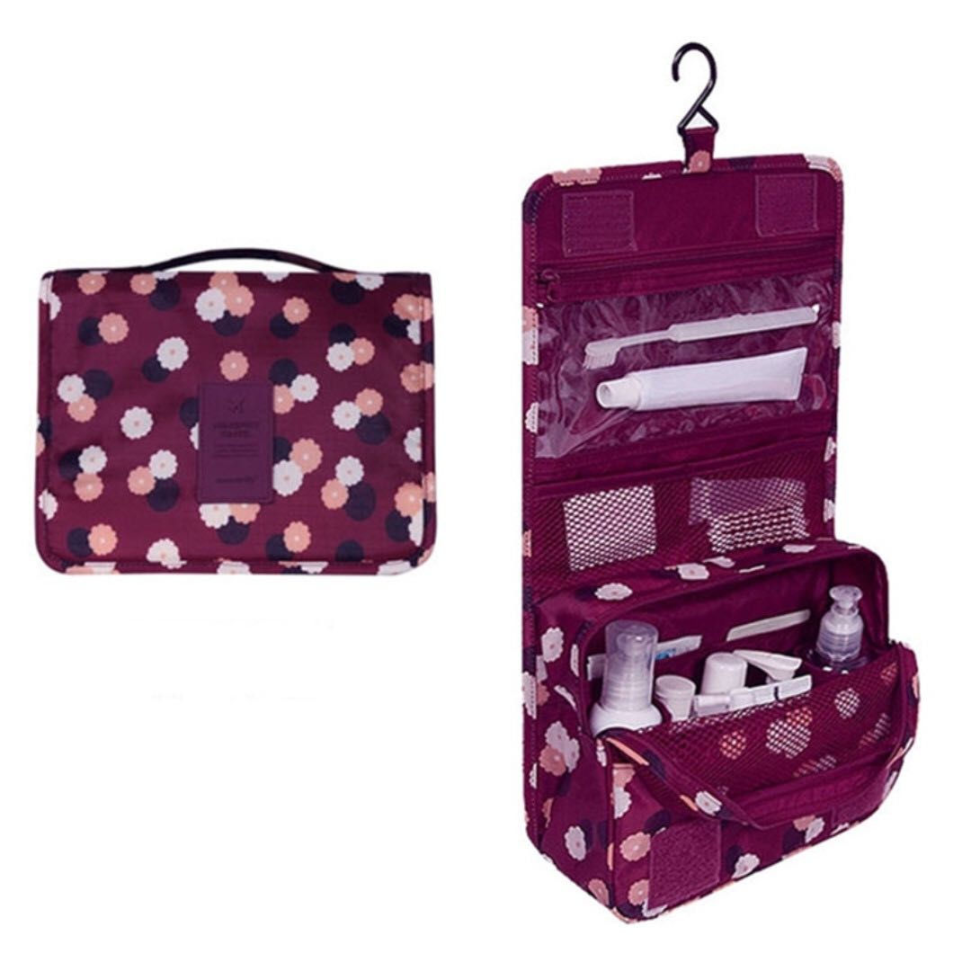 Hanging Toiletry Cosmetic Pouch Travel Bag Organizer