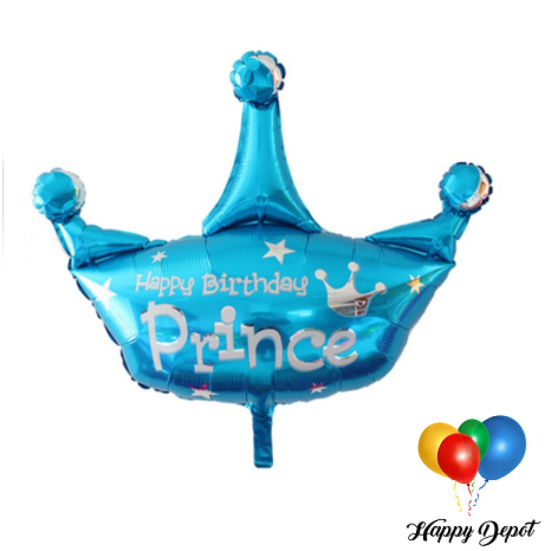 Happy Birthday Prince Foil Balloons