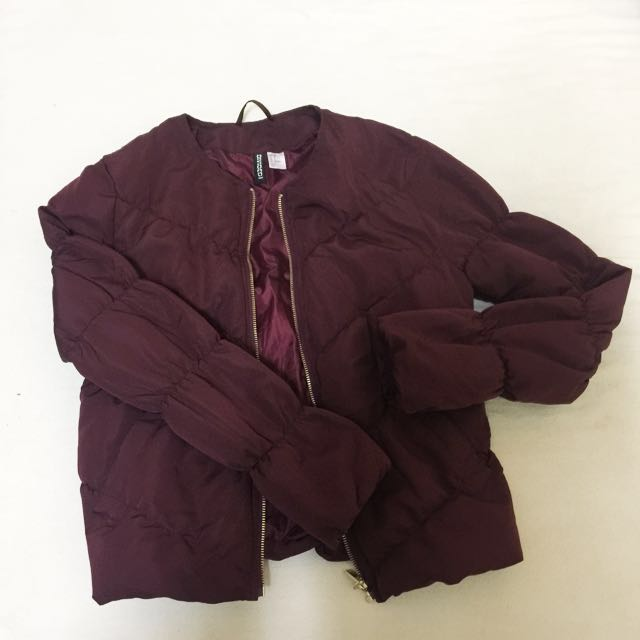 H&M divided bomber quilted jacket