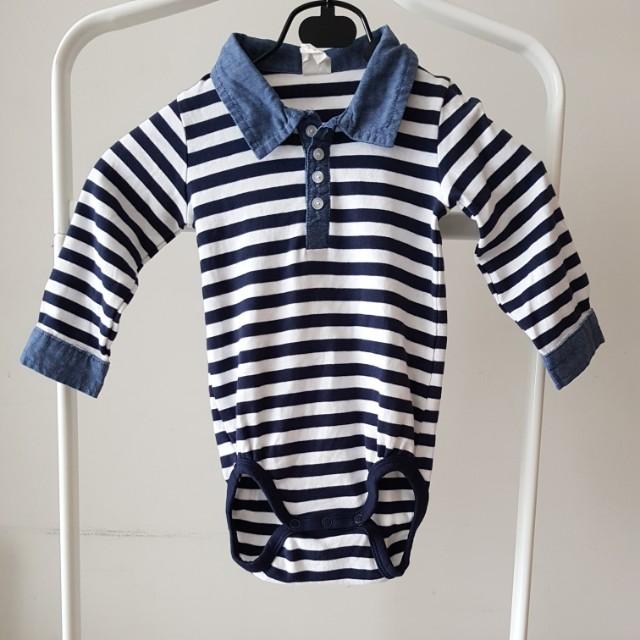H&M Stripe Onesie