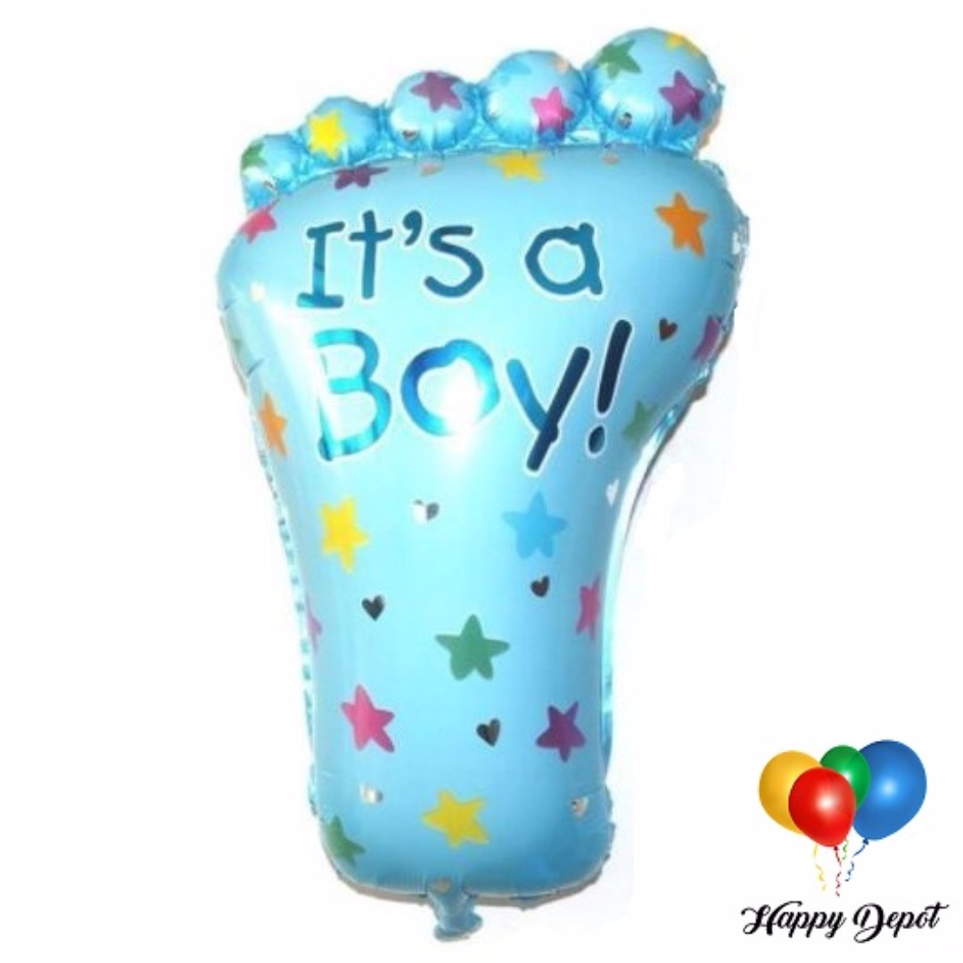 It's A Baby Boy Foot Foil Balloons