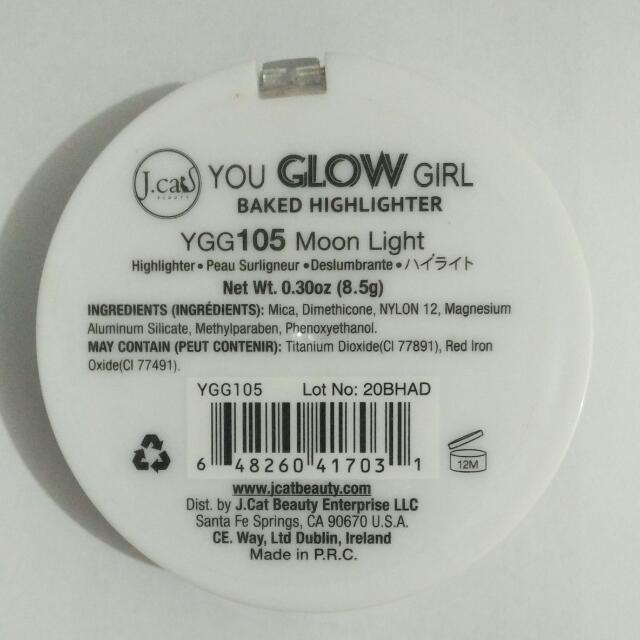 J.Cat You Glow Girl Baked Highlighter Moon Light