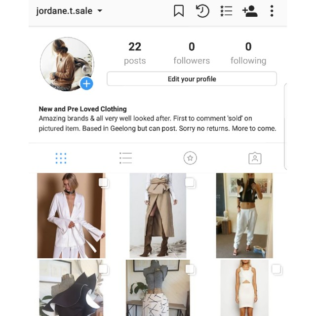 jordane.t.sale on Instagram. Public account. Everything listed on each photo. Brands include #asilio #zimmerman #sassandbide #steele #cameocollective #maurieandeve PLUS many more.