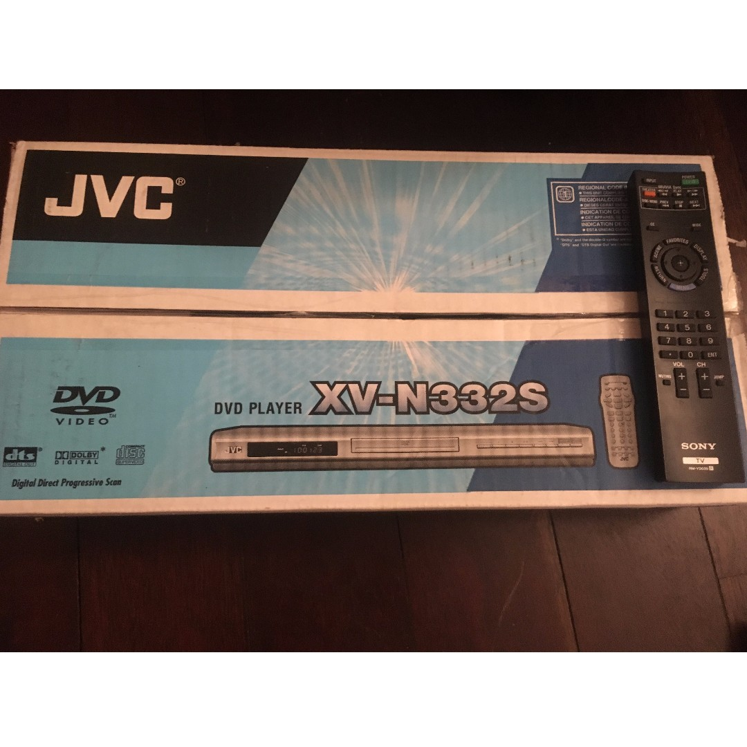 JVC DVD PLAYER WITH REMOTE CONTROL