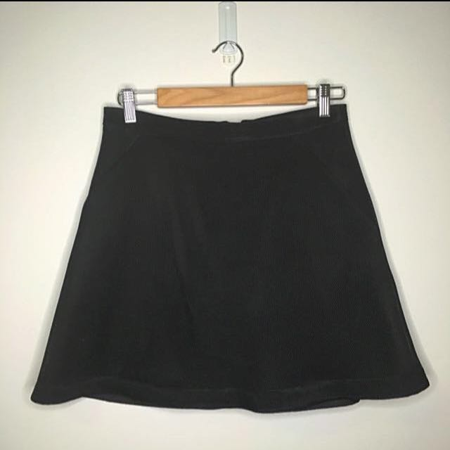 Kookai Black Mesh Mini Skirt