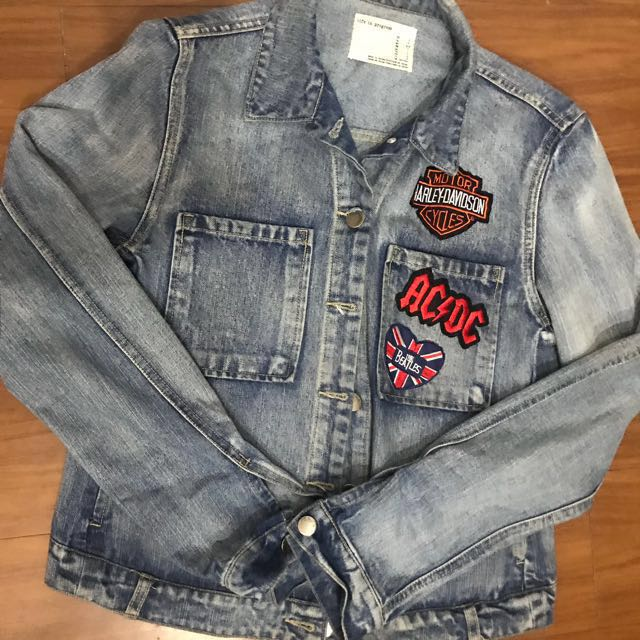 Life in Progress Patched Denim Jacket