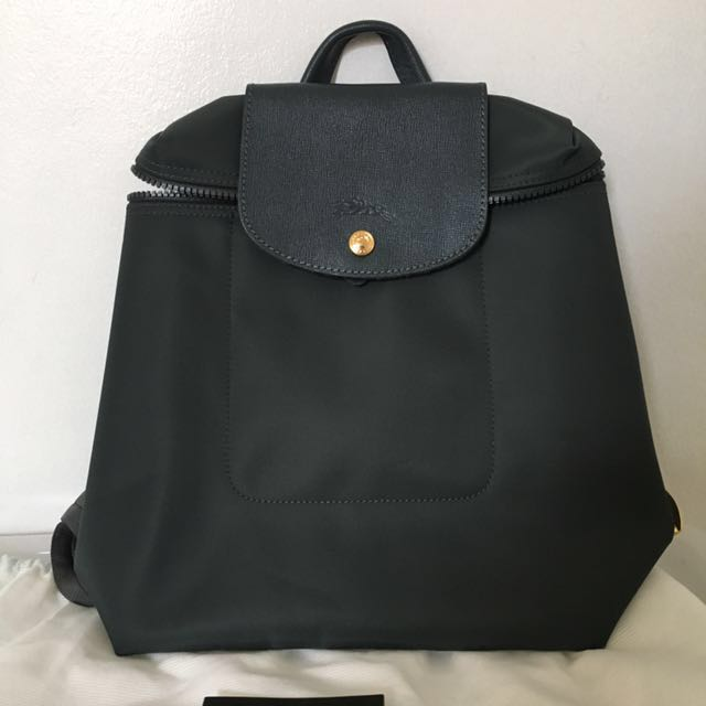 Longchamp Gray Backpack