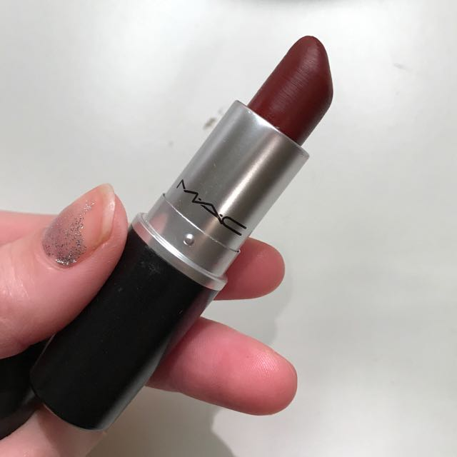 MAC matte studded kiss A45 red brown lipstick