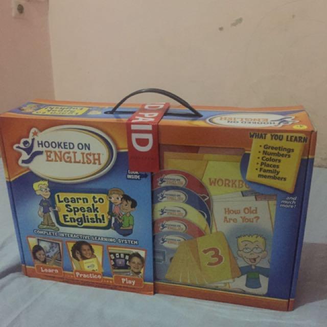 mainan edukasi , dvd , dan books untuk belajar bahasa inggris