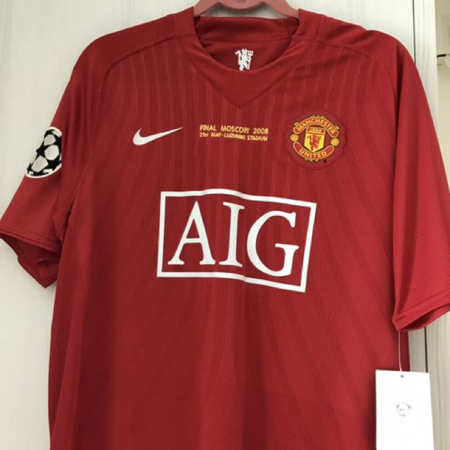 check out e6ea1 c400c Manchester United 2008 CHAMPIONS LEAGUE FINAL MOSCOW JERSEY