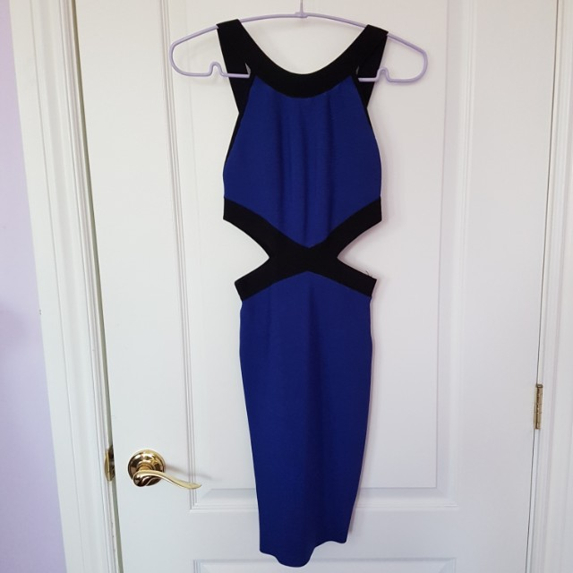 Marciano Guess Blue cut out Bandage Dress