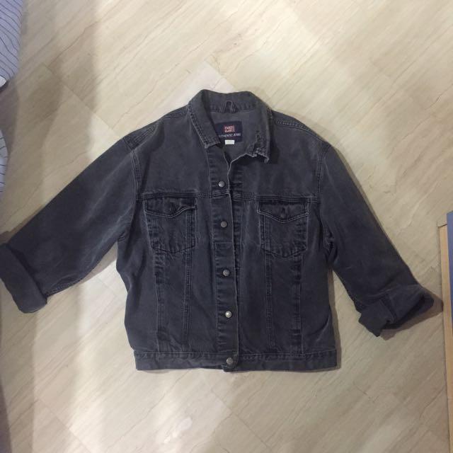 Men S Oversized Xl Black Denim Jacket Men S Fashion Clothes On