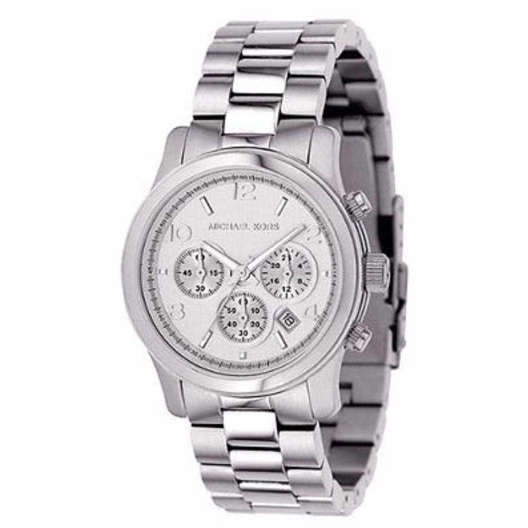 MK5076 - Michael Kors Women's Stainless Steel Quartz Chronograph Silver Tone Watch