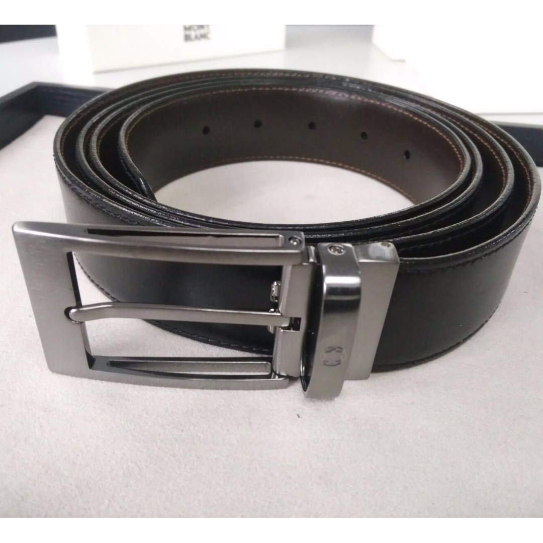 Montblanc Casual Collection Reversible Leather Belt (Black/Brown) 105090,  Luxury, Accessories on Carousell