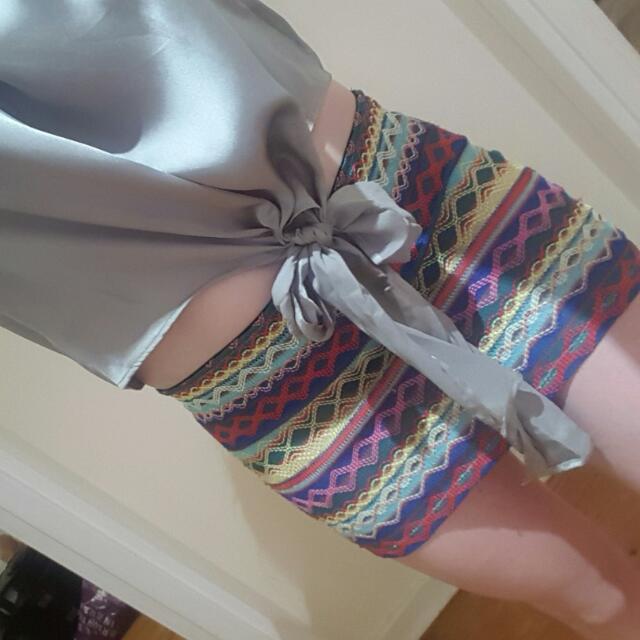 Neon Pattern Skirt