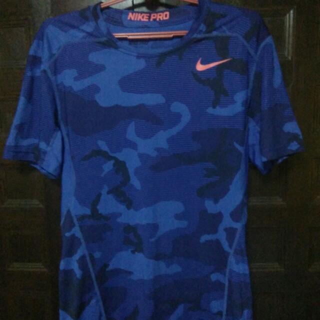 e7af8ff0cc652 Nike Pro-combat Navy Camo Compression T-shirt., Sports, Sports ...
