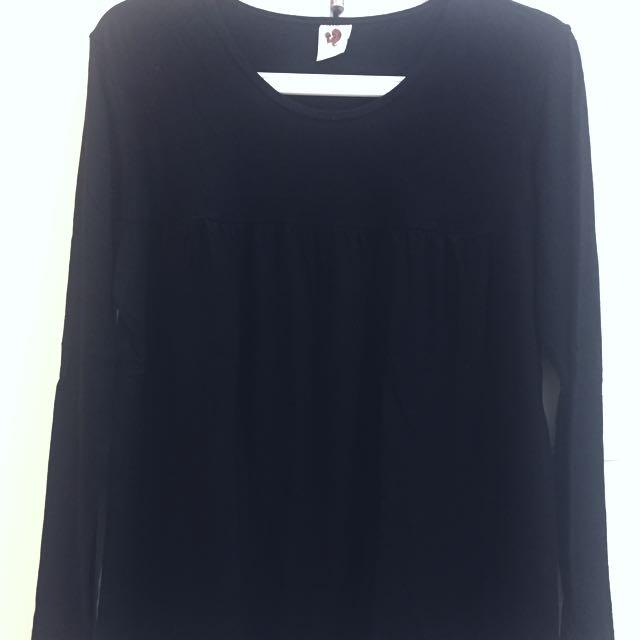 Nyonya nursing wear black top