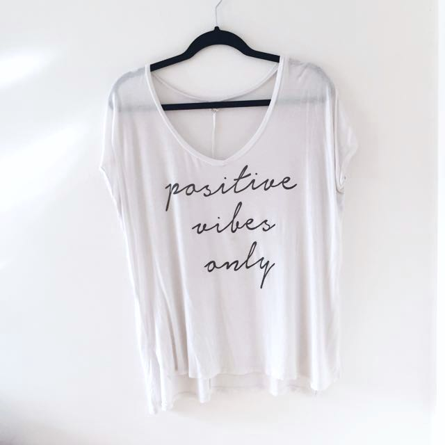 """Oversize Lounging """"Positive Vibes Only"""" Tee"""