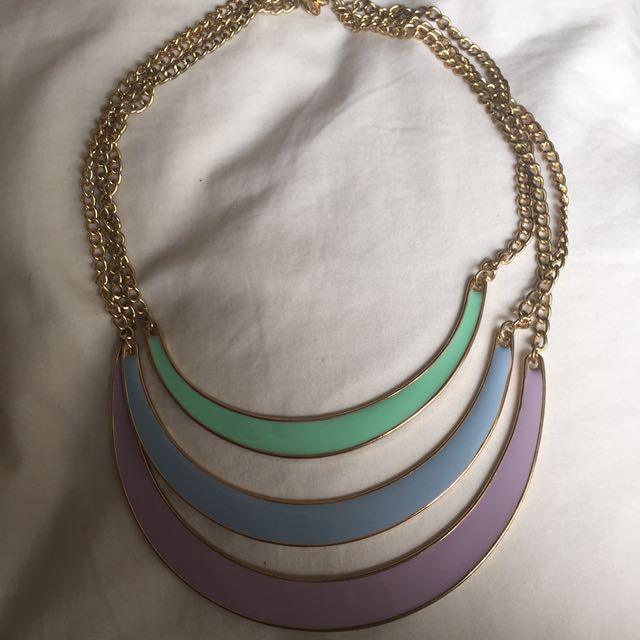 Pastel layered necklace