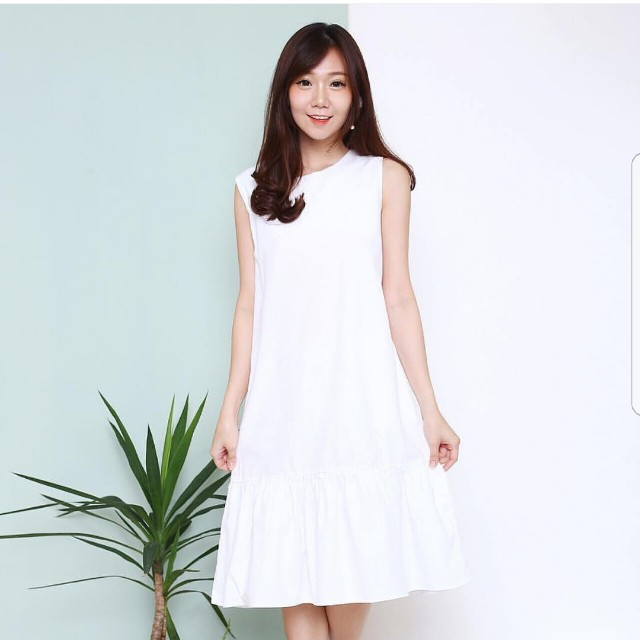 Peplum White Dress