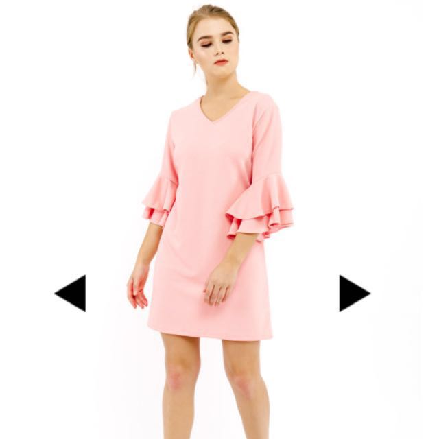 Pink dress Bust: 90cm Length: 86cm