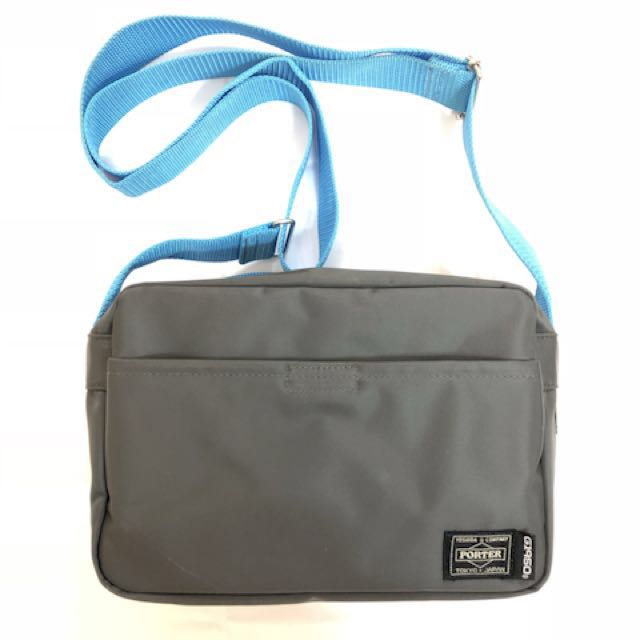 acd87be0ed Porter Tokyo Gray x Neon Blue Crossover Edition Shoulder Bag