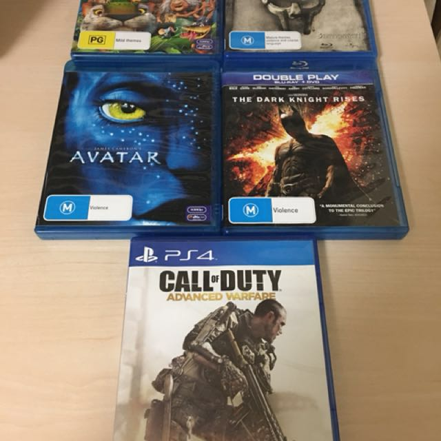 PS4 Game & BluRay DVDs