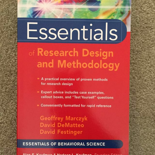 PSYCH RESEARCH DESIGN TEXT BOOK (RRP $55.99)