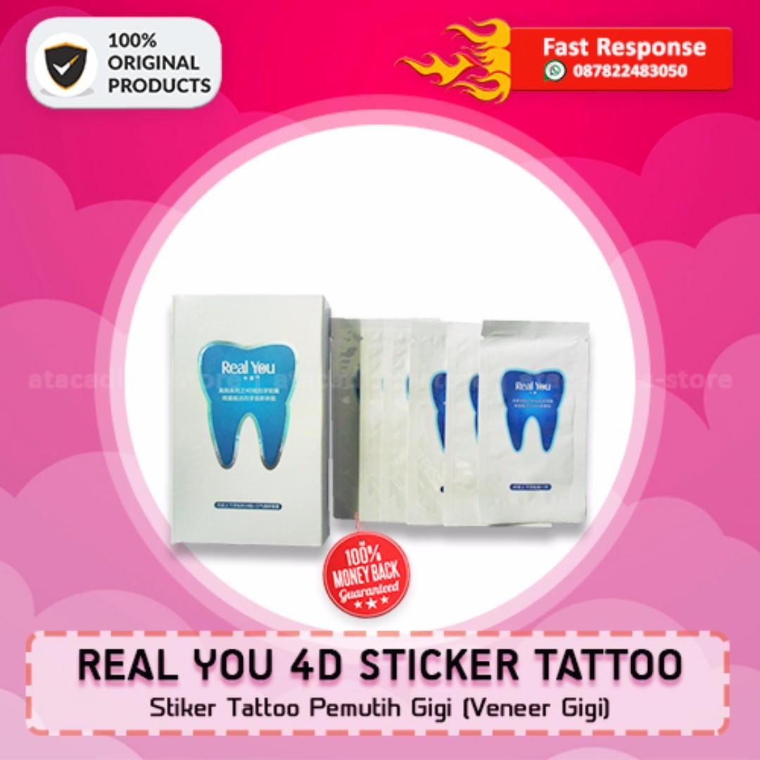 REAL YOU 4D STICKER TATTOO - Stiker Tattoo Pemutih GIgi - Original