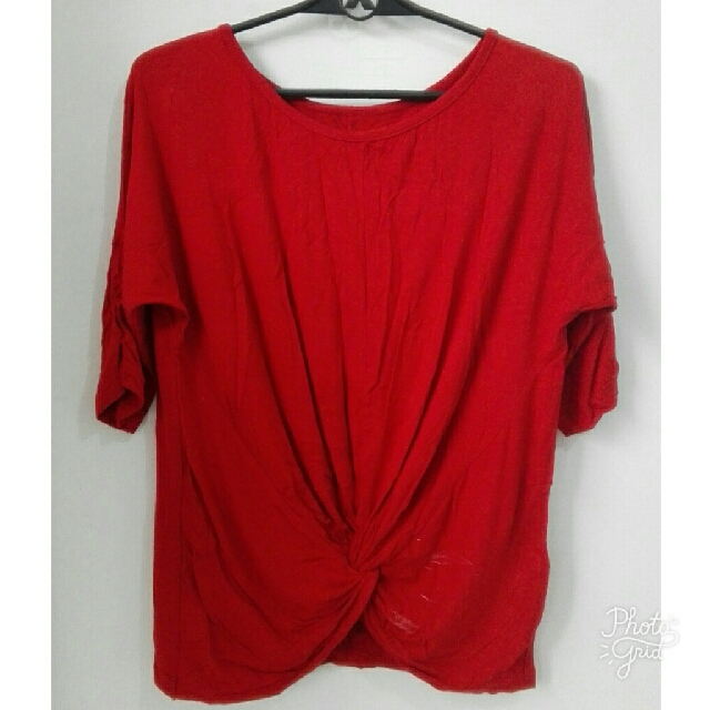 Red Looped Blouse