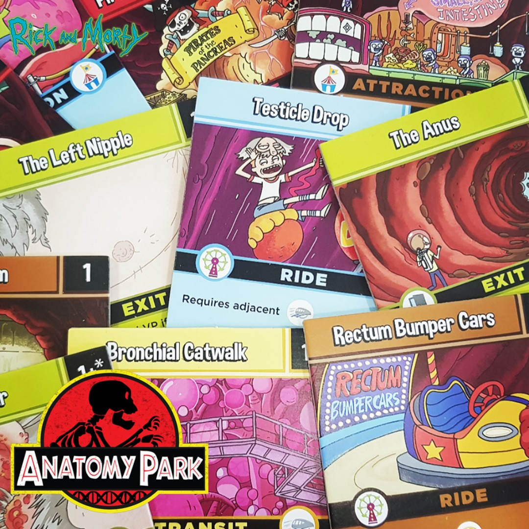 Rick And Morty Anatomy Park Game Toys Games Board Games Cards