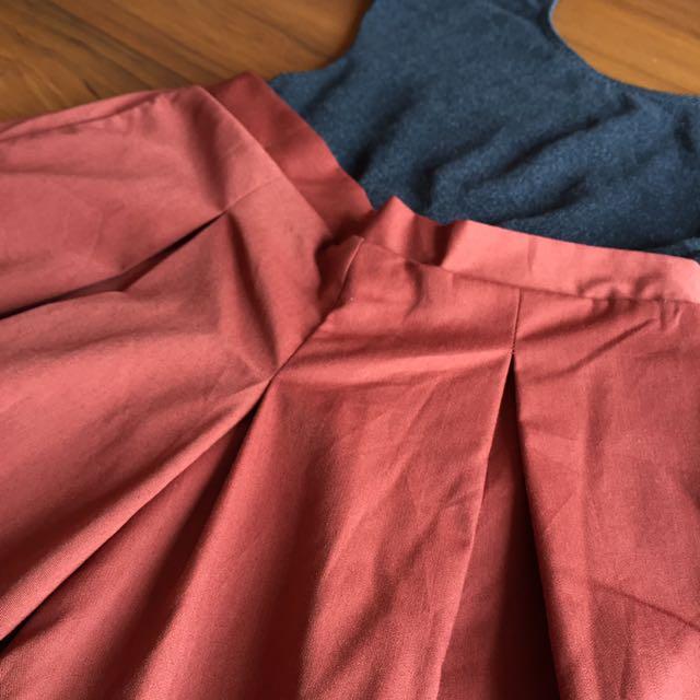 Rust Culottes/Samurai Pants
