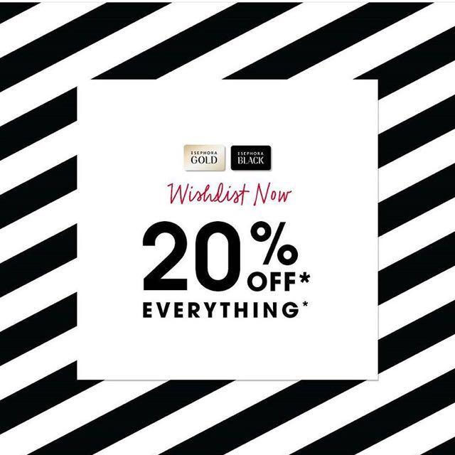 Sephora 20% Member Sale