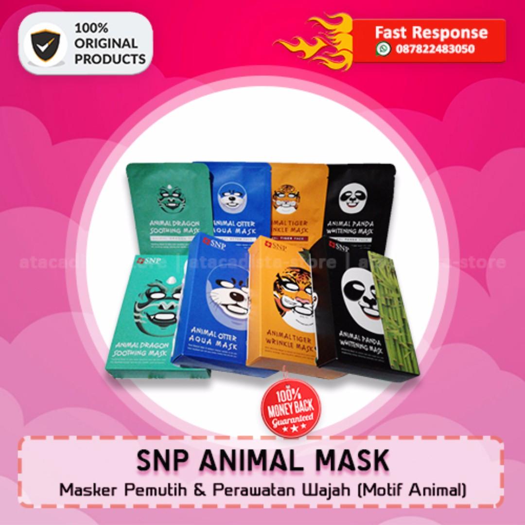 SNP ANIMAL MASK - Masker Perawatan Wajah Motif Animal - Original