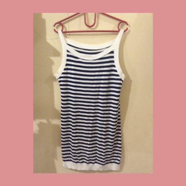 Strip mini dress