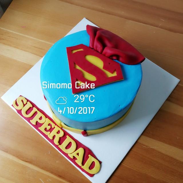 Super Dad Cake Superdad Superman Cake Food Drinks Baked Goods On
