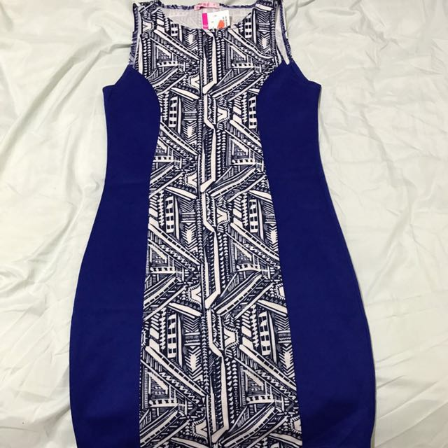 Supre Aztec Print Blue dress