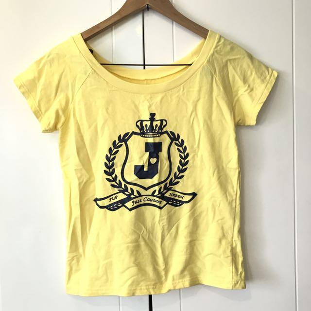 全新❤️黃色短袖t