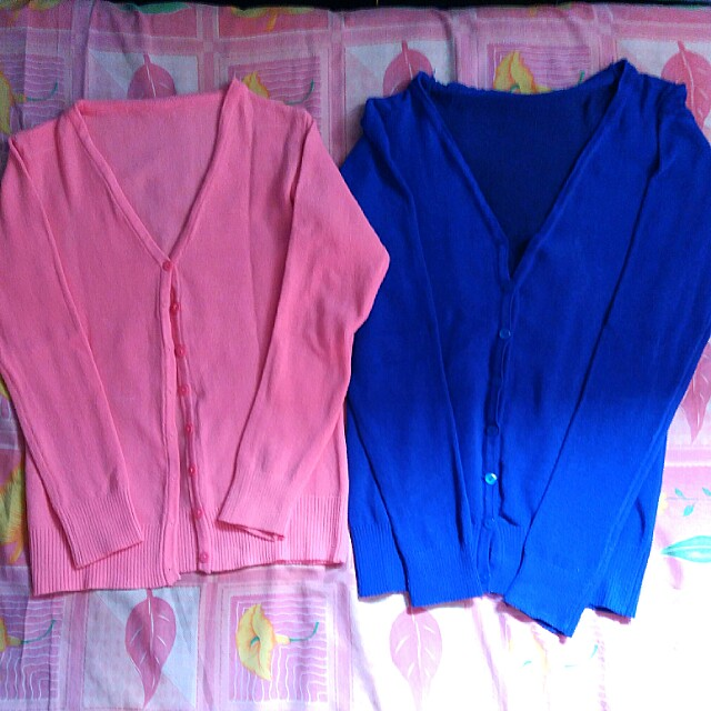 Take all, cardigan pink & blue