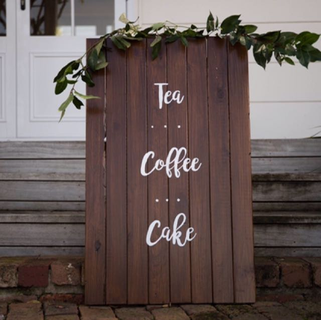 Tea coffee cake sign