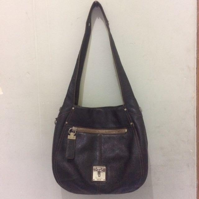 Tignanello Leather Hobo Shoulder Bag