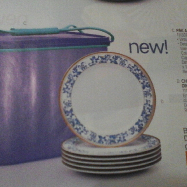 photo photo photo & Tupperware China Blue Melamine Dinner Plates Kitchen u0026 Appliances ...