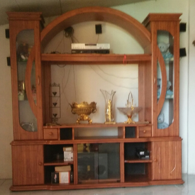 TV Stand Wood Cabinet