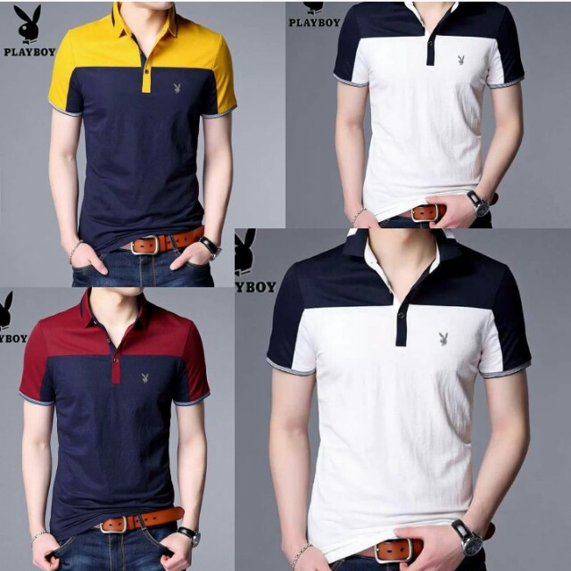 Two Tone Men's Collared Shirt